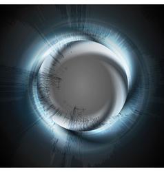 Abstract blue logo ring vector