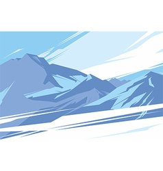ABSTRACT MOUNTAINS vector image