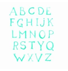 alphabet watercolor paint on paper drawing letters vector image