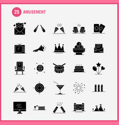 Amusement solid glyph icon for web print and vector