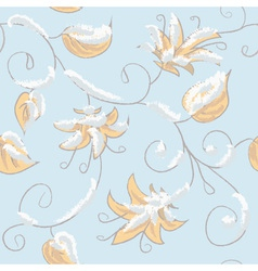 Autumn blue seamless pattern vector image