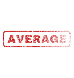 Average rubber stamp vector