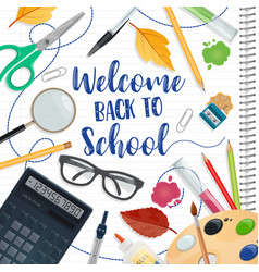 Back to school education and study season poster vector