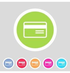 Bank credit card flat icon vector image