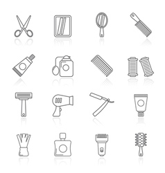 Barber and Hair Salon icons vector