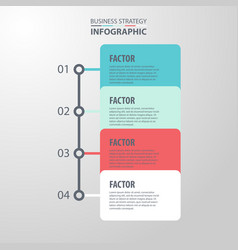 basic business infographics design template vector image