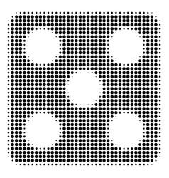 black pixel dice icon vector image