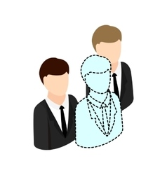 Businesspeople icon isometric 3d style vector