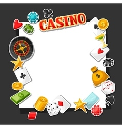 Casino gambling background design with game vector image
