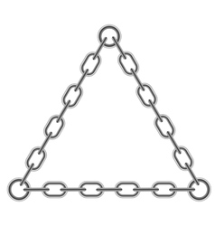 Chain Triangle Frame vector