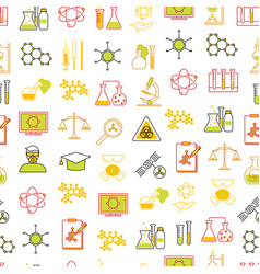 chemical seamless pattern background vector image