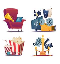 cinema cartoon entertainment conceptual vector image