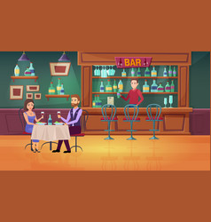 couple people in bar cartoon vector image