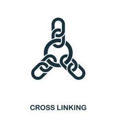 Cross linking icon line style icon design ui vector