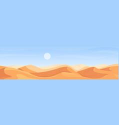 Desert nature wide panorama landscape in africa vector