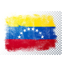distressed grunge flag venezuela vector image
