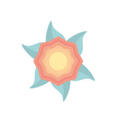 Flower decoration nature icon vector