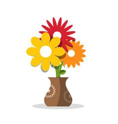 Flower icon flowers in vase vector