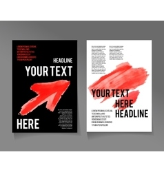 Flyer template Business brochure Red color vector