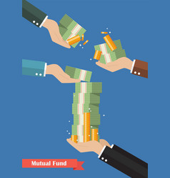 fund manager holding cash money vector image