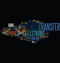 funds transfer word cloud concept vector image