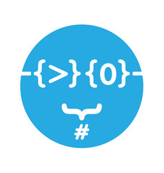Geeky profile icon for coders vector