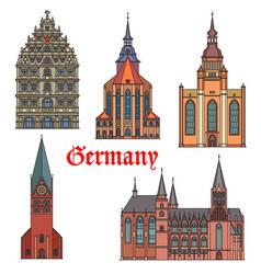 Germany landmark buildings gothic architecture vector
