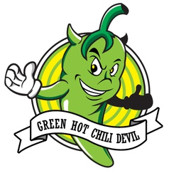 green hot chili devil cartoon vector image