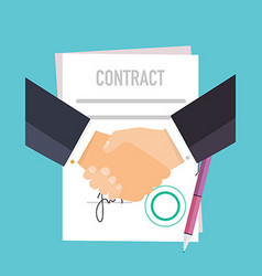 Handshake of business people on the background vector