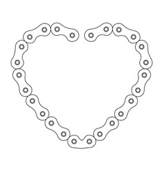 Heart with chain bicycle vector