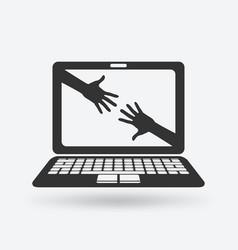 help online concept vector image