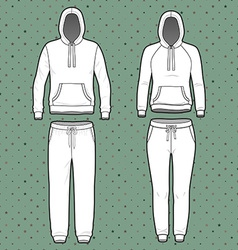 Hoodi and sweatpants set vector image