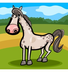 horse farm animal cartoon vector image