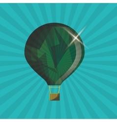 Hot air balloon graphic vector image