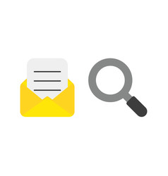 icon concept of mail envelope and written paper vector image