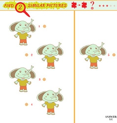 identical two pictures vector image