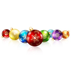 Isolated christmas balls vector image