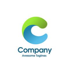 Letter c color logo concept vector