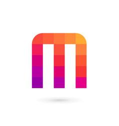 letter m mosaic logo icon design template elements vector image