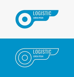 Logo for logistics company vector