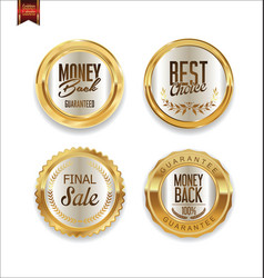 luxury sale golden labels collection 2 vector image