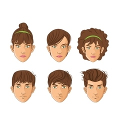 Man and hair style design vector