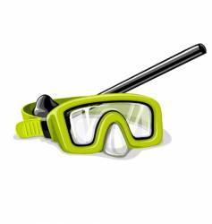 Mask for diving sport illustration vector