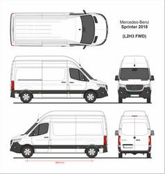 Mercedes sprinter cargo van l2h3 fwd 2018 vector