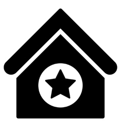 Military building flat icon vector