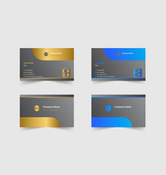 Minimal and creative business card vector