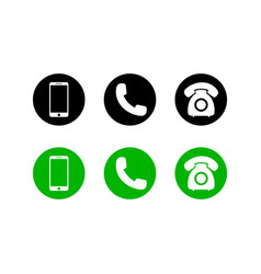 mobile phone icon on isolated backgroundset of vector image