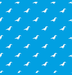 Origami raven pattern seamless blue vector