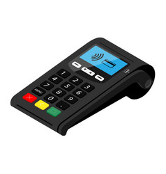 pos terminal payment machine isolated on white vector image