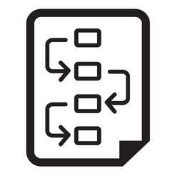 Project planning icon vector